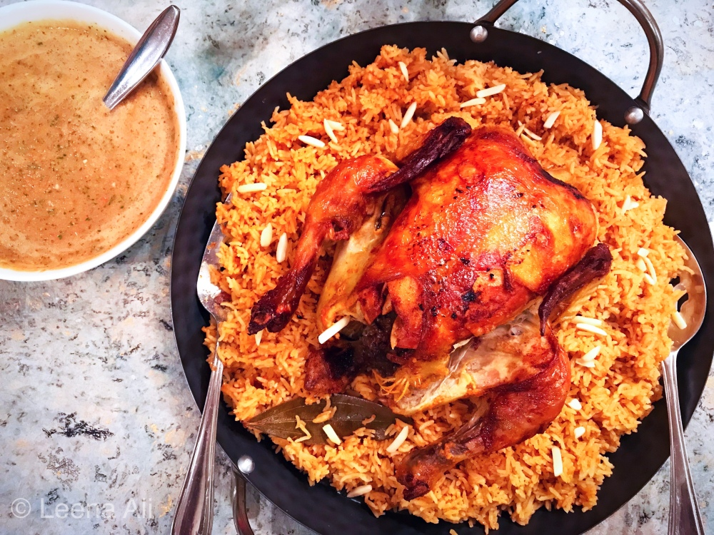 Kabsa A Saudi Chicken And Rice Dish What Leena Did